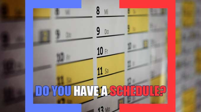 Do you have a schedule for blogging daily so you can make money online?