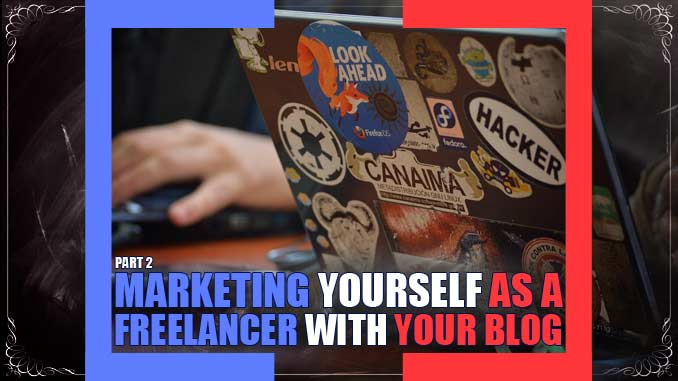 learning how to market yourself online as a freelancer with your blog using offline and online strategies, as well as networking to make money