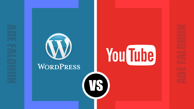 adefalohun dot com website make money as a freelancer. Blogging VS Vlogging wordpress vs youtube